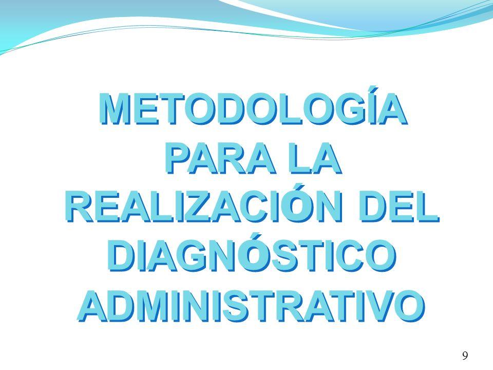 METODOLOGÍA PARA LA REALIZACI Ó N DEL DIAGN Ó STICO ADMINISTRATIVO 9