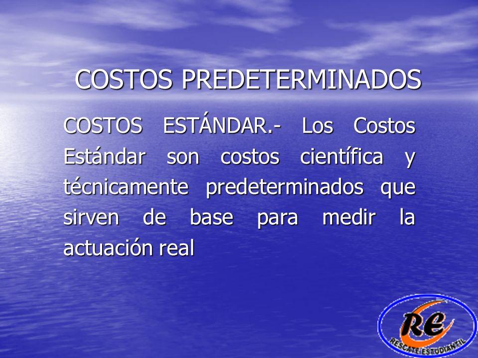 COSTOS PREDETERMINADOS DETERMINACIÓN DE LAS VARIACIONES El costo estándar de las materias primas consta de dos elementos CANTIDAD Y PRECIO Cantidad.