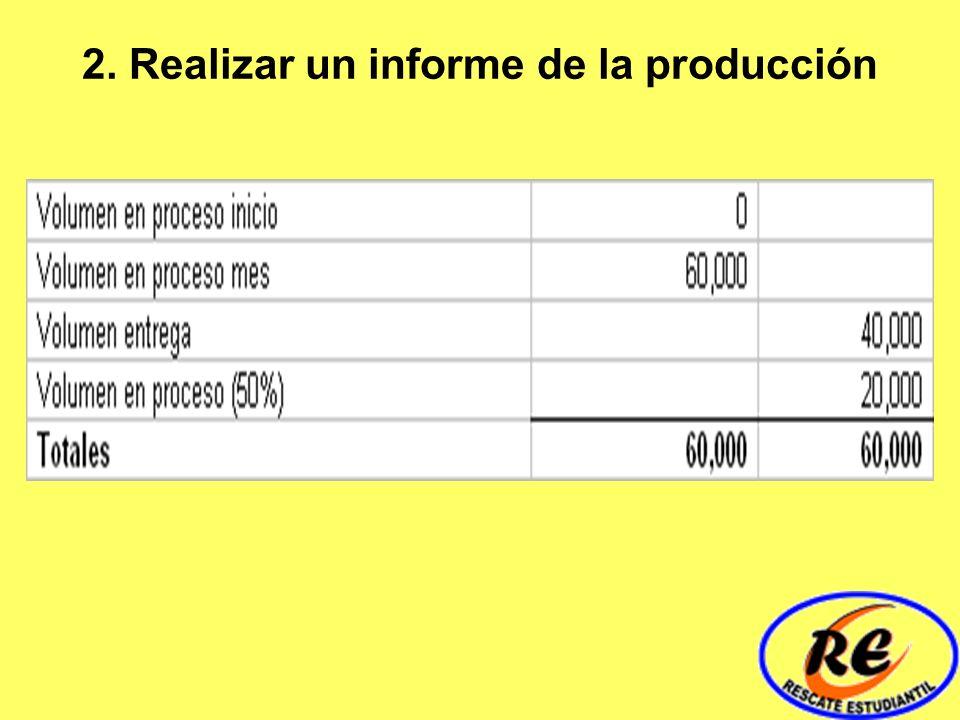 2. Realizar un informe de la producción