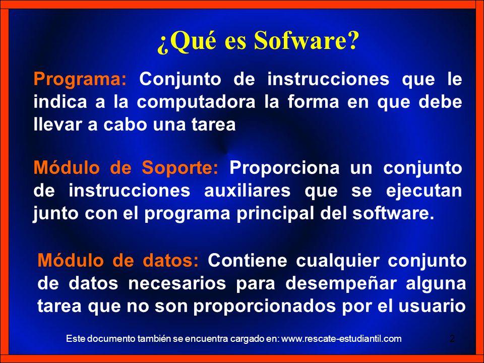 Programa: Conjunto de instrucciones que le indica a la computadora la forma en que debe llevar a cabo una tarea Módulo de datos: Contiene cualquier co
