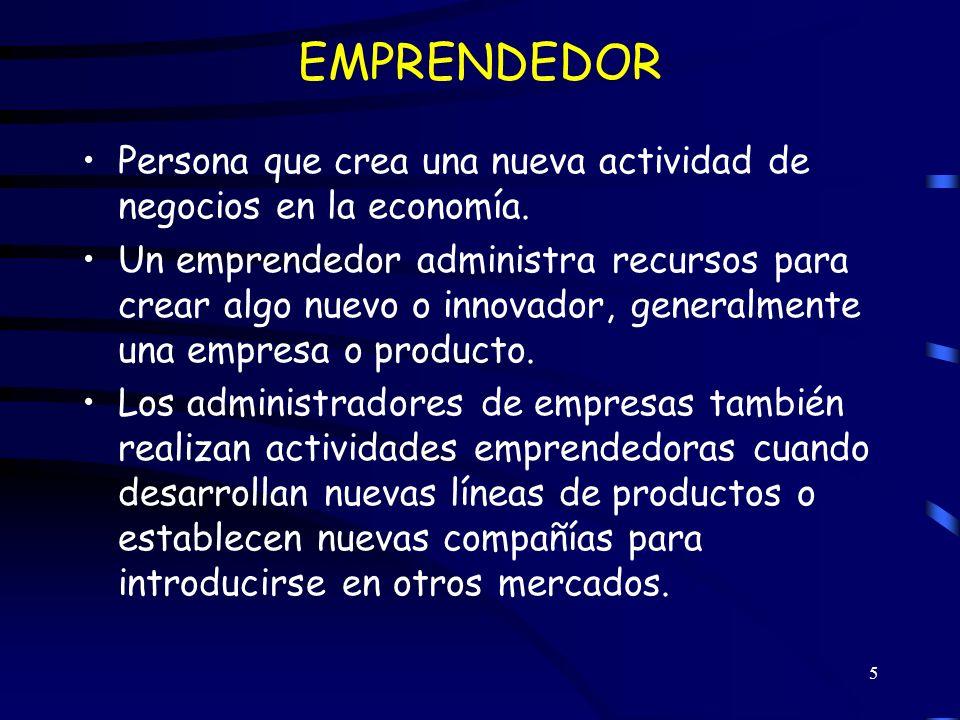 6 CARACTERISTICAS DE LOS EMPRENDEDORES 1.