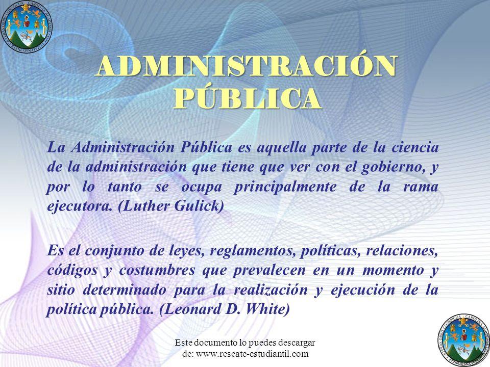 La Administración Pública es aquella parte de la ciencia de la administración que tiene que ver con el gobierno, y por lo tanto se ocupa principalment