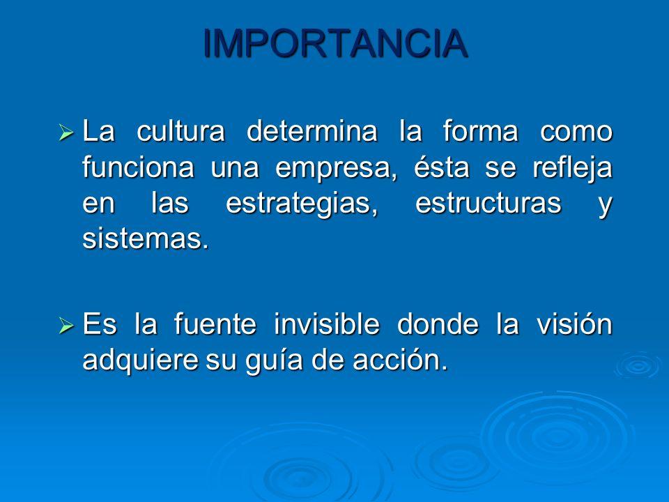 LA CULTURA ORGANIZACIONAL SE DIVIDE EN: CULTURA DOMINANTE: EXPRESA LOS VALORES CENTRALES QUE COMPARTE LA GRAN MAYORIA DE MIEMBROS EXPRESA LOS VALORES CENTRALES QUE COMPARTE LA GRAN MAYORIA DE MIEMBROS VALORES CENTRALES: SON LOS VALORES PRIMARIOS O DOMINANTES ACEPTADOS EN TODA LA ORGANIZACÓN.