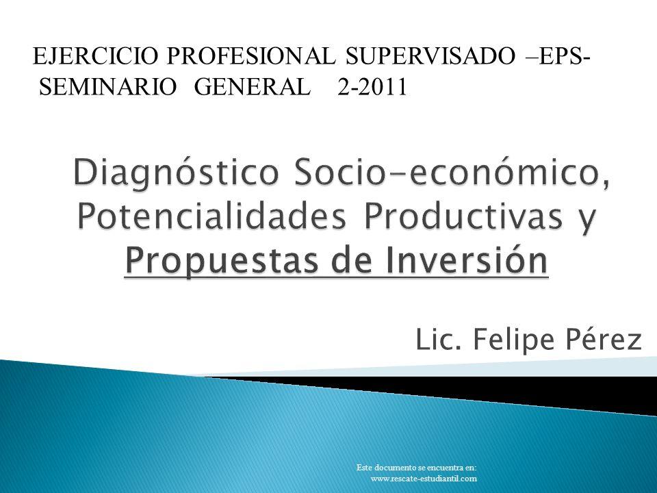 PREINVERSIÓN PROMOCIÓN, NEGOCIACIÓN Y FINANCIAMIENTO DISEÑO FINAL INVERSIÓN/ EJECUCIÓN OPERACIÓN O FUNCIONAMIENTO PROBLEMAS/NECESIDADES CICLO DE VIDA DE UN PROYECTO Este documento se encuentra en: www.rescate-estudiantil.com