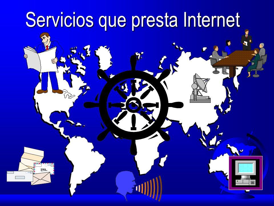 Servicios que presta Internet