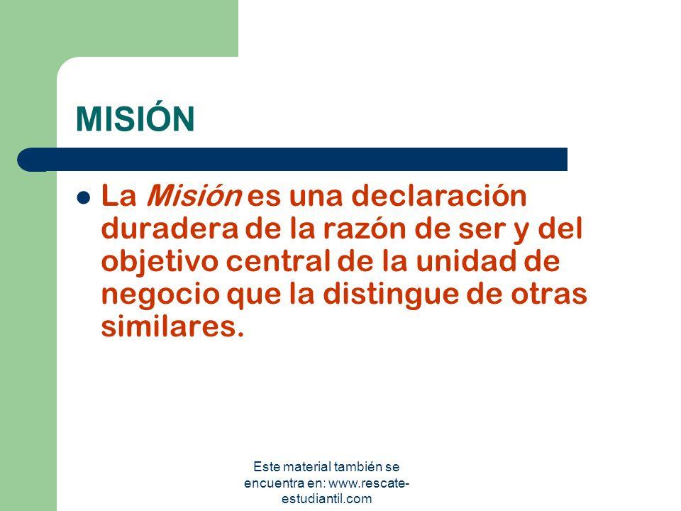 FUNDAMENTOS ESTRATÉGICOS MISIÓN VISIÓN VALORES OBJETIVOS ESTRATEGIAS Este material también se encuentra en: www.rescate- estudiantil.com