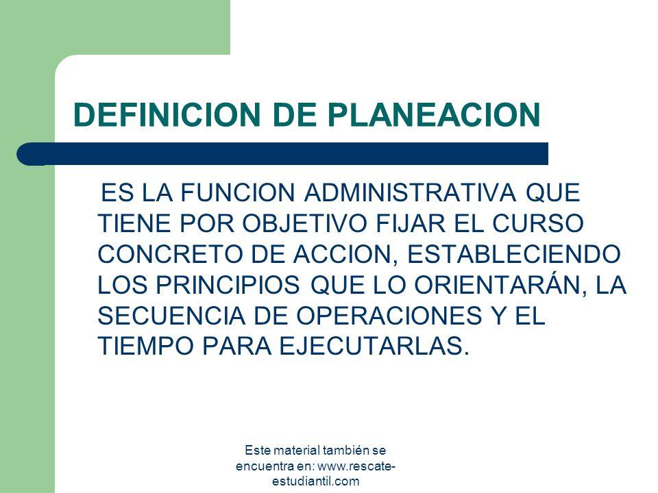 ASPECTOS GENERALES PLANEACIÓN ESTRATÉGICA DE RECURSOS HUMANOS COORDINACION AREA DE ADMINISTRACION Este material también se encuentra en: www.rescate-e