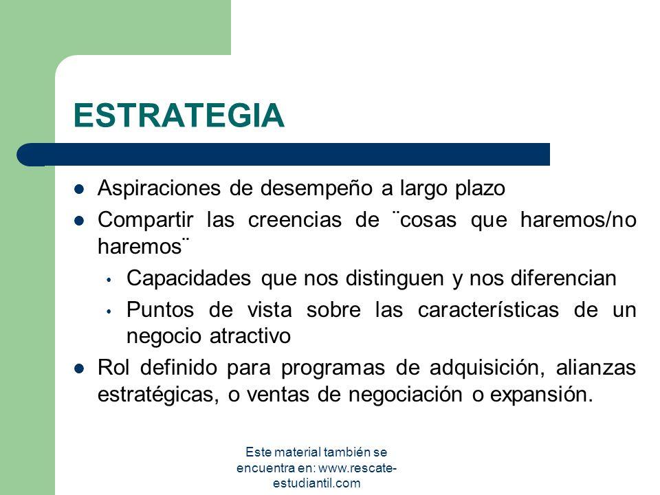 OBJETIVOS Representan las posiciones estratégicas que se desean alcanzar en un momento dado del futuro. Deben ser alcanzables, medibles, cuantificable