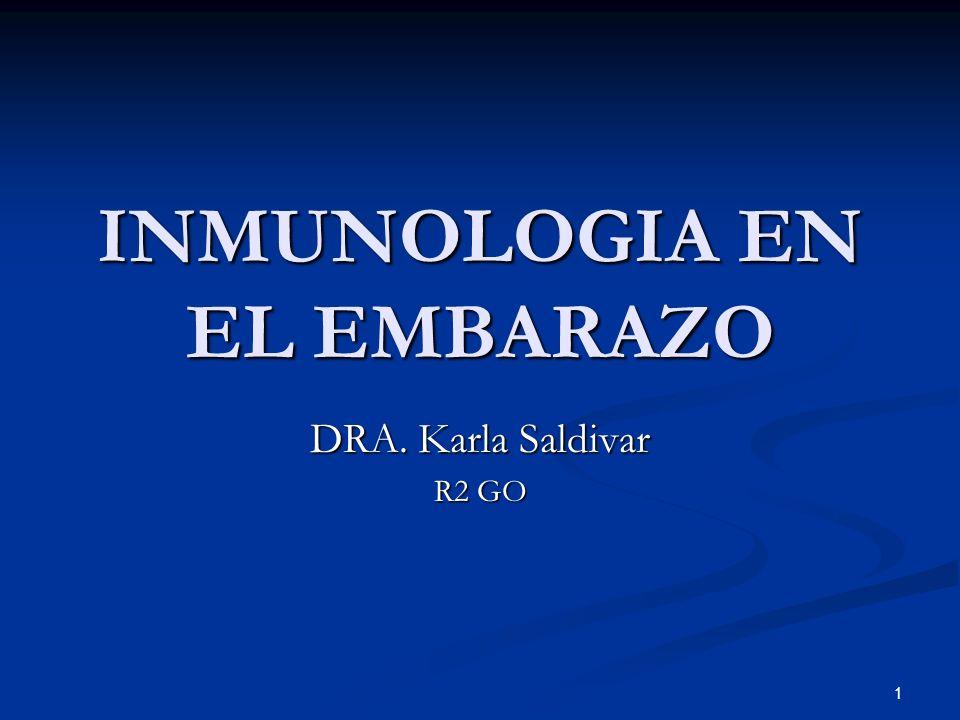 INMUNOLOGIA EN EL EMBARAZO DRA. Karla Saldivar R2 GO 1