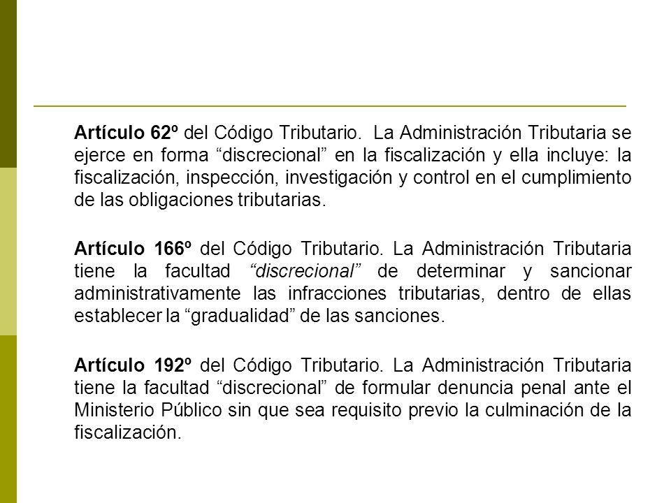 Artículo 62º del Código Tributario.