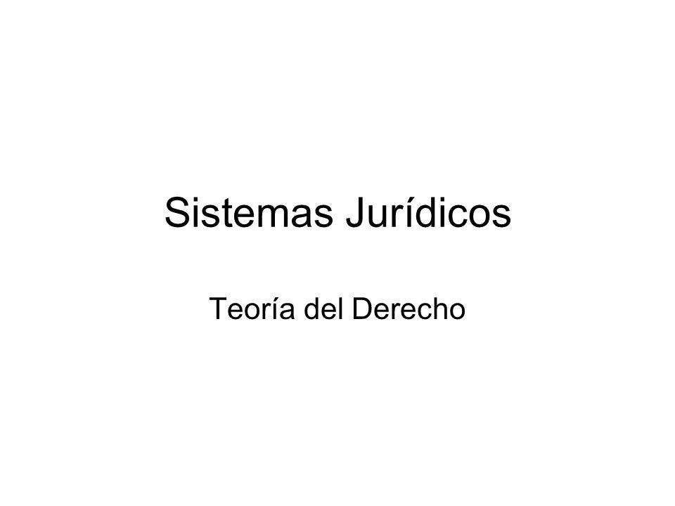 Sistemas Jurídicos Teoría del Derecho