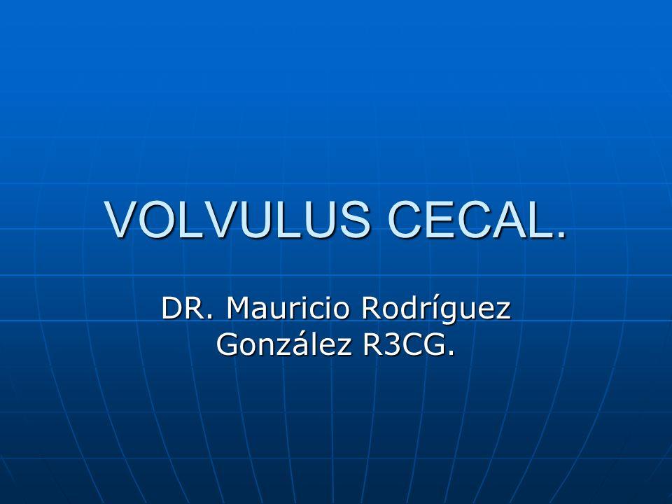VOLVULUS CECAL.Se observa mas en pacientes jóvenes.