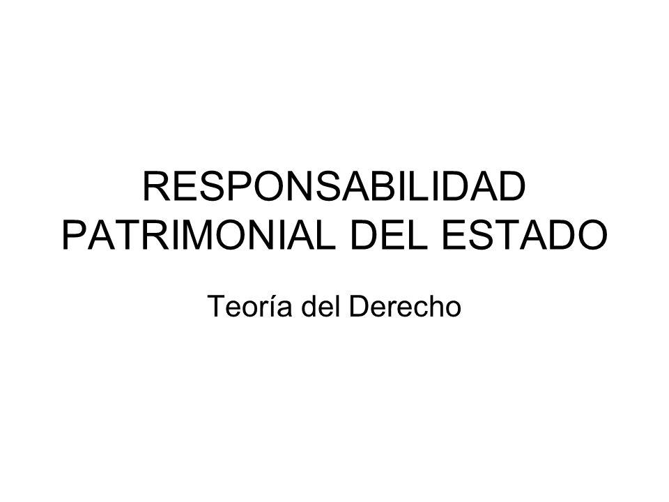 RESPONSABILIDAD PATRIMONIAL DEL ESTADO Teoría del Derecho