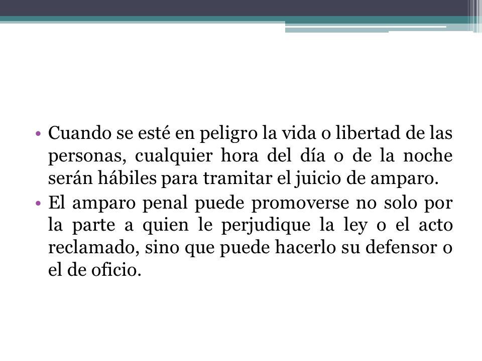 El amparo penal no solo puede formularse por escrito, sino también por comparecencia, siempre que se trate de los actos que señala el artículo 22 de la Constitución.
