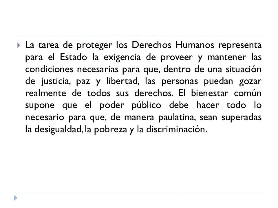 La defensa o la protección de los Derechos Humanos tiene la función de: Contribuir al desarrollo integral de la persona.