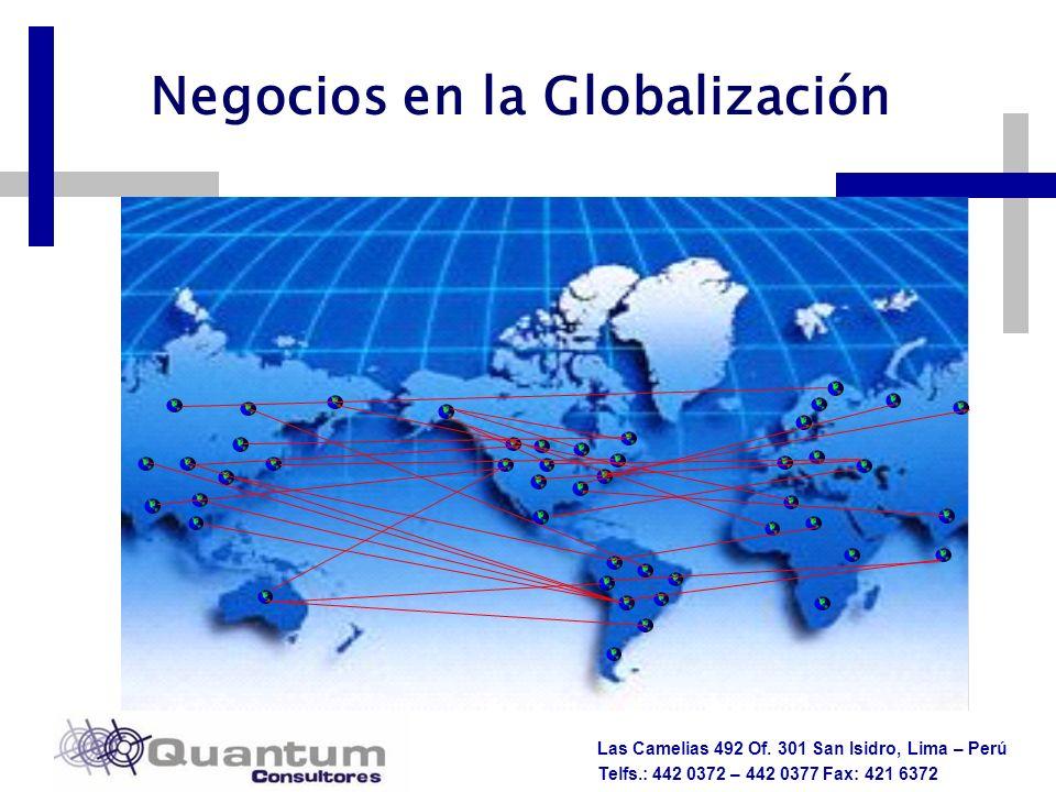 Las Camelias 492 Of. 301 San Isidro, Lima – Perú Telfs.: 442 0372 – 442 0377 Fax: 421 6372 Negocios en la Globalización