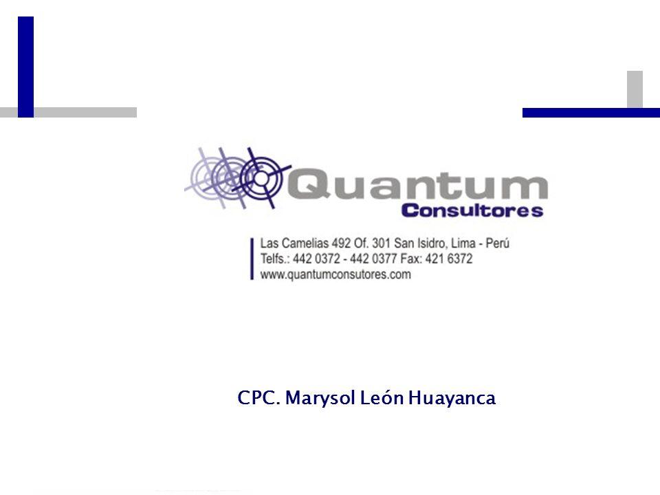 Las Camelias 492 Of. 301 San Isidro, Lima – Perú Telfs.: 442 0372 – 442 0377 Fax: 421 6372 CPC. Marysol León Huayanca