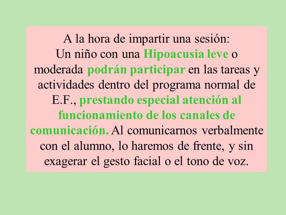 Según Adams, Daniel y Rullman (1978) Las personas que padecen algún tipo de deficiencias auditivas pueden participar en la mayoría de los deportes que