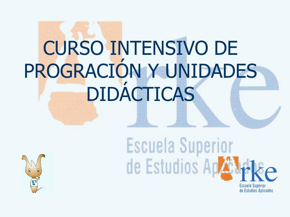 CURSO INTENSIVO DE PROGRACIÓN Y UNIDADES DIDÁCTICAS