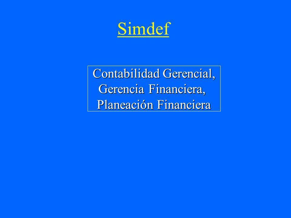 Simdef Contabilidad Gerencial, Gerencia Financiera, Planeación Financiera