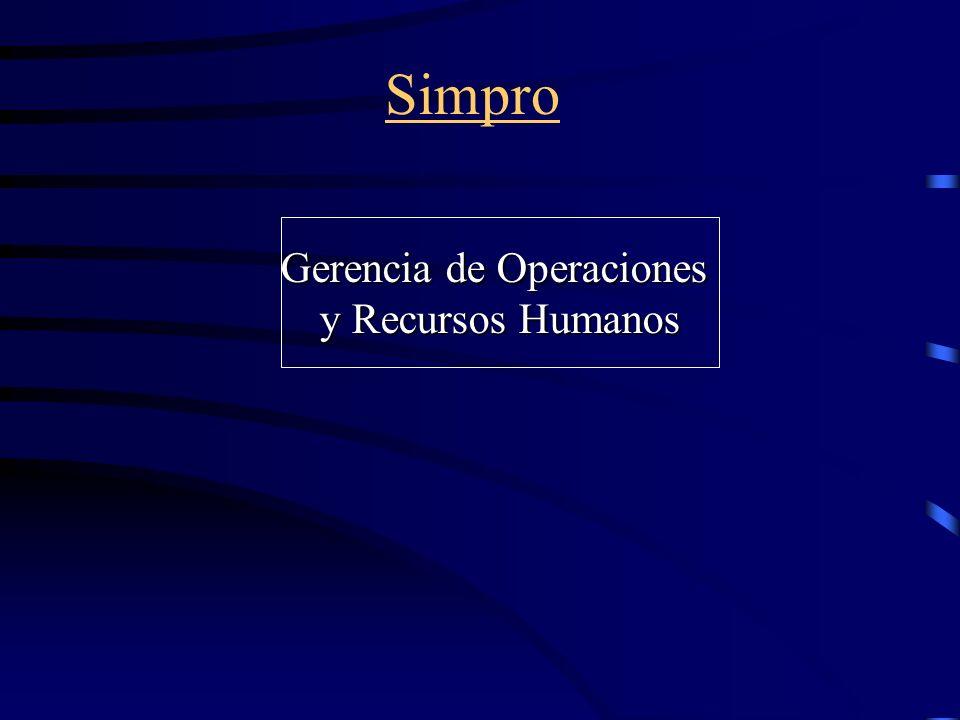 Simpro Gerencia de Operaciones y Recursos Humanos