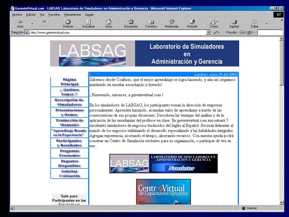 INTERFACE CON EL SIMULADOR POR INTERNET