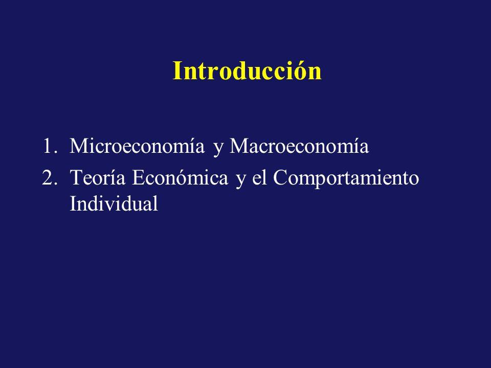 Conceptos Preliminares 1.Productos y Sectores de la Economía 2.Mercados 3.Flujos e Inventarios 4.Análisis de Periodos 5.Equilibrio y Estabilidad