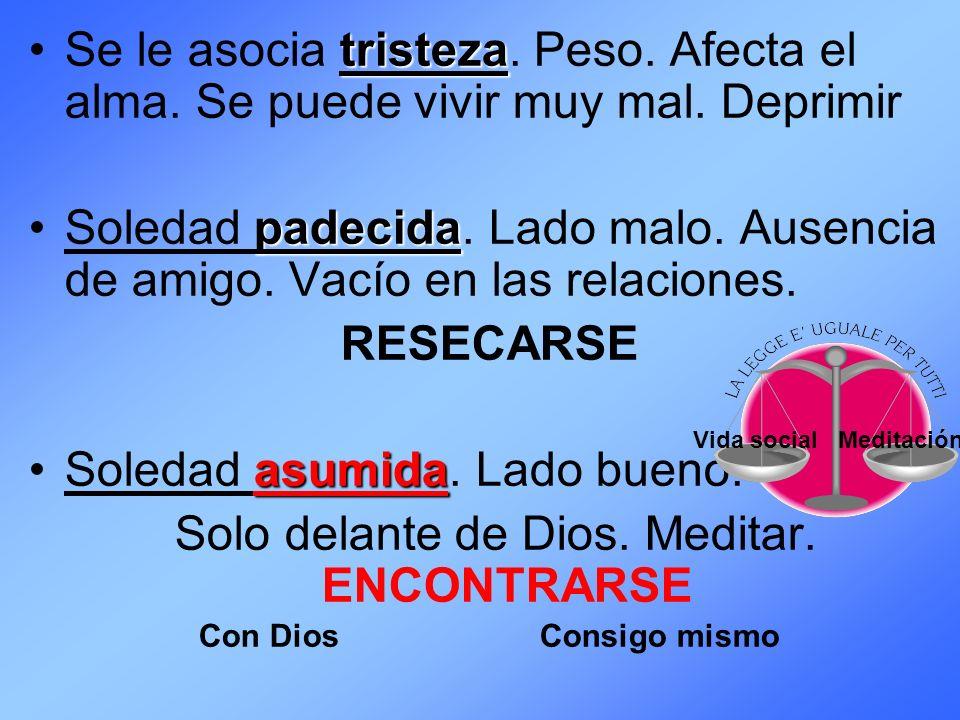 VIVIR CONFORME VIVIR CONFORME A LA CARNE AL E SPÍRITU = soledad = estar con Dios VIVIR CONFORME VIVIR CONFORME A LA CARNE AL E SPÍRITU = soledad = estar con Dios