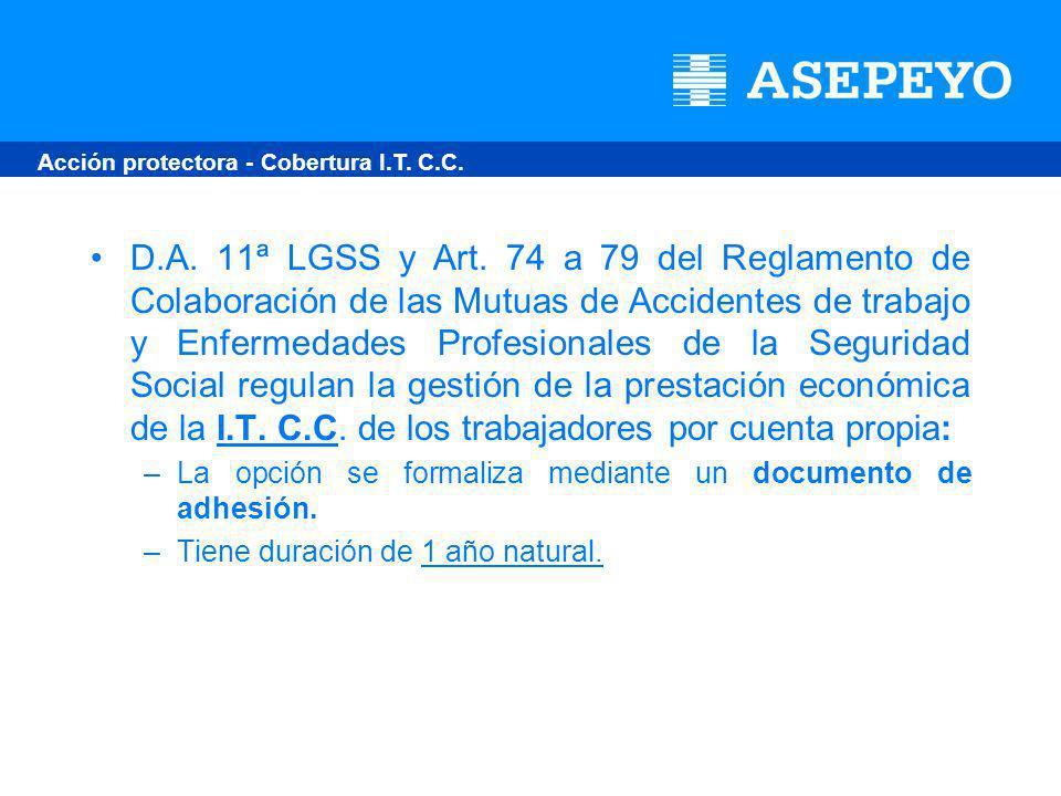 D.A. 11ª LGSS y Art.