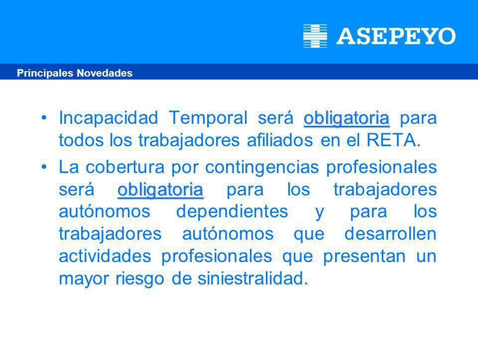 obligatoriaIncapacidad Temporal será obligatoria para todos los trabajadores afiliados en el RETA.