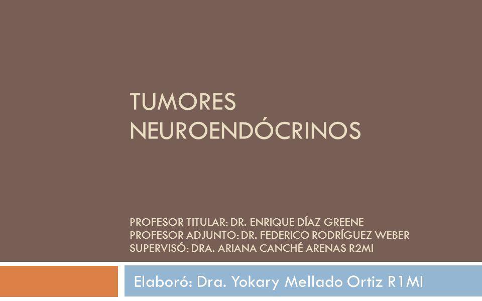 TUMORES NEUROENDÓCRINOS PROFESOR TITULAR: DR. ENRIQUE DÍAZ GREENE PROFESOR ADJUNTO: DR. FEDERICO RODRÍGUEZ WEBER SUPERVISÓ: DRA. ARIANA CANCHÉ ARENAS