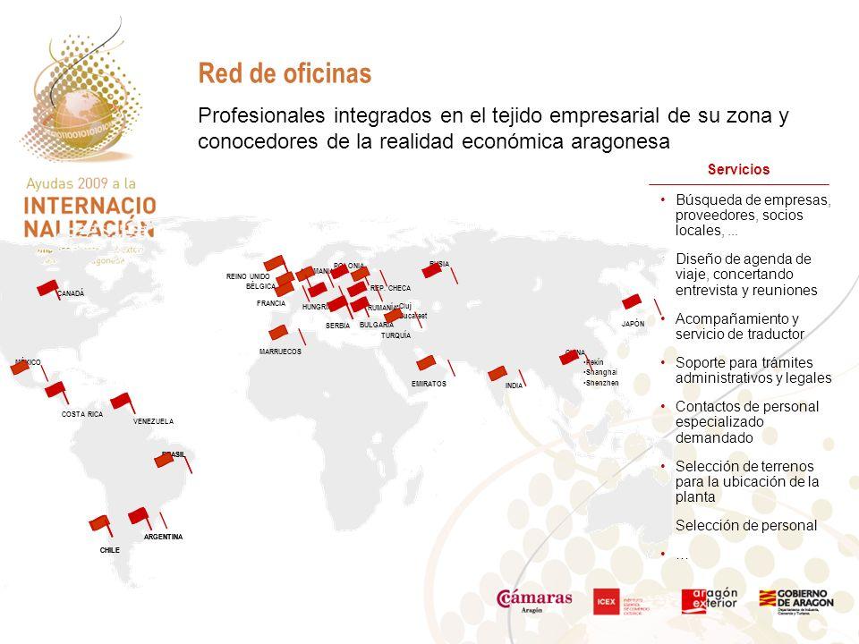 Profesionales integrados en el tejido empresarial de su zona y conocedores de la realidad económica aragonesa Red de oficinas Búsqueda de empresas, proveedores, socios locales,...