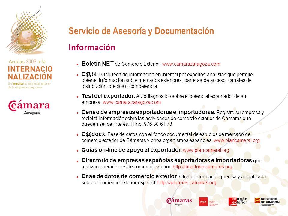 Servicio de Asesoría y Documentación Boletín NET de Comercio Exterior.
