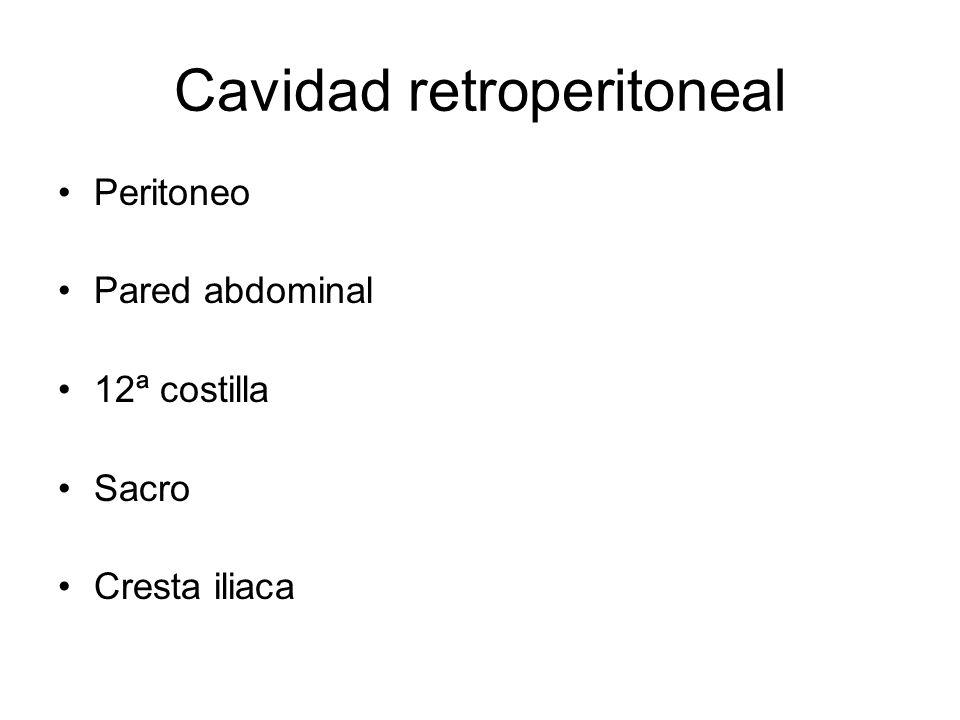 Cavidad retroperitoneal