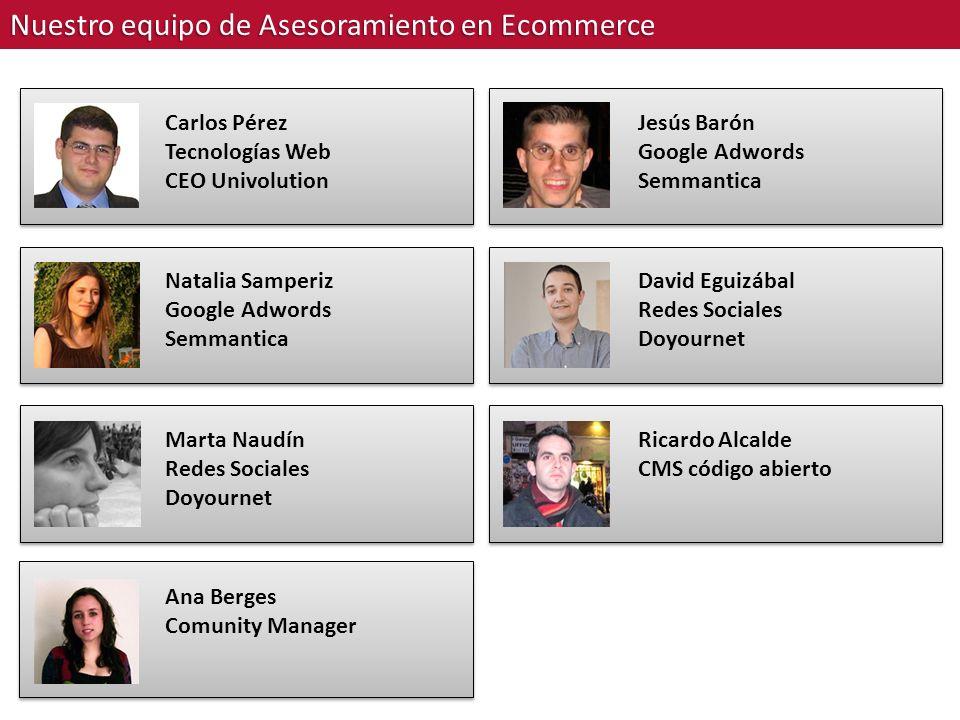 Nuestro equipo de Asesoramiento en Ecommerce Natalia Samperiz Google Adwords Semmantica Marta Naudín Redes Sociales Doyournet Ana Berges Comunity Mana