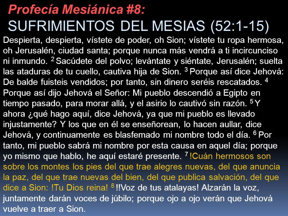 Despierta, despierta, vístete de poder, oh Sion; vístete tu ropa hermosa, oh Jerusalén, ciudad santa; porque nunca más vendrá a ti incircunciso ni inm