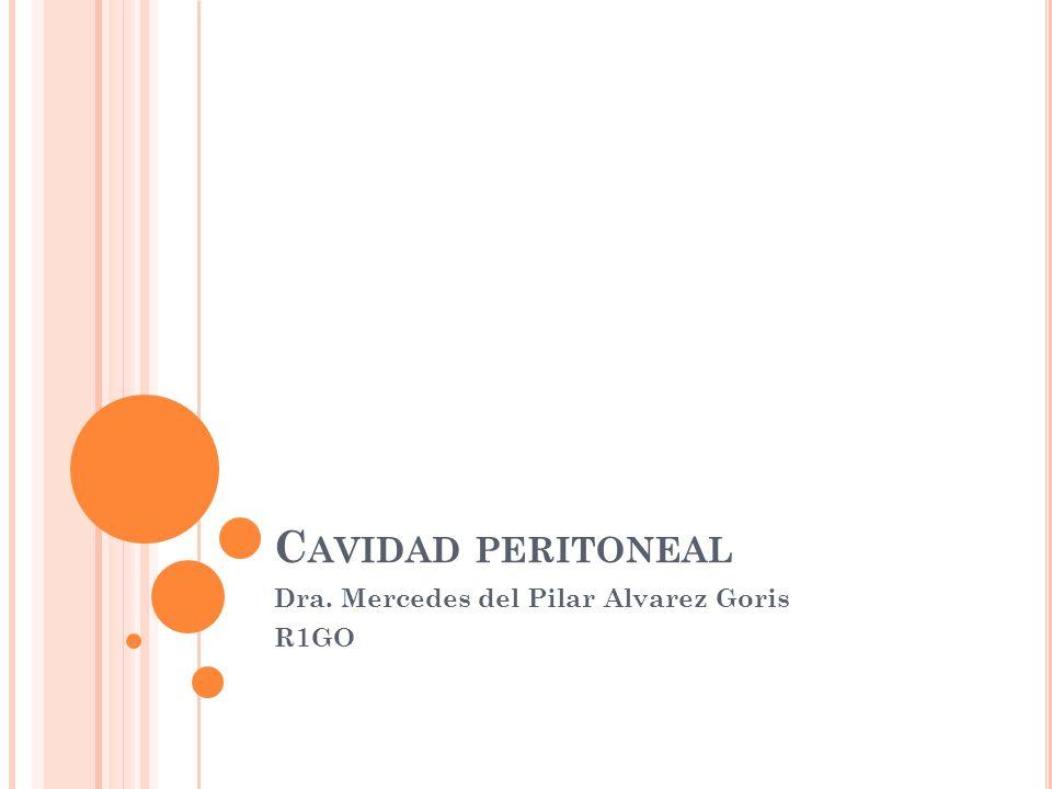 C AVIDAD PERITONEAL Dra. Mercedes del Pilar Alvarez Goris R1GO