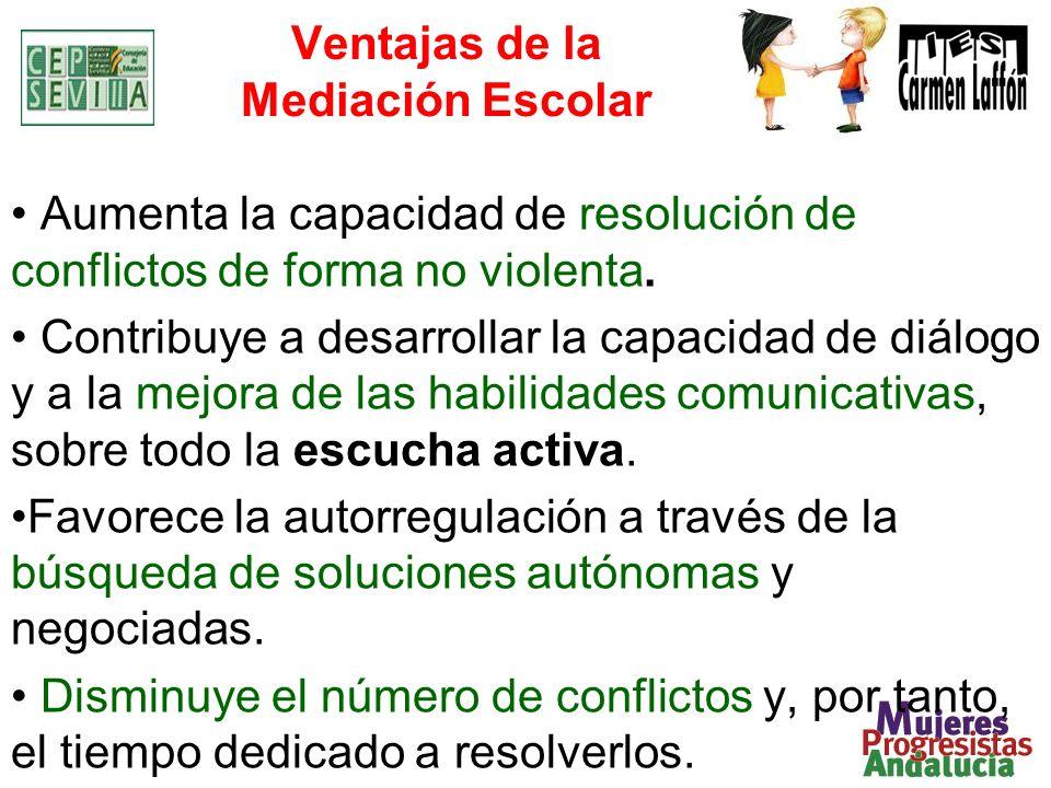 Aumenta la capacidad de resolución de conflictos de forma no violenta. Contribuye a desarrollar la capacidad de diálogo y a la mejora de las habilidad