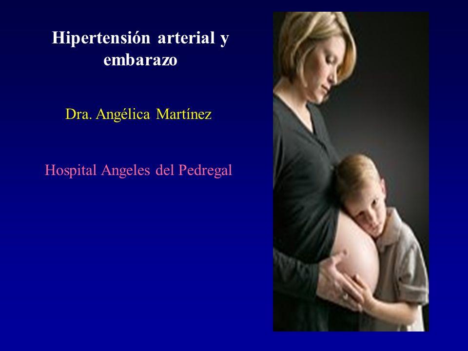 Hipertensión arterial y embarazo Dra. Angélica Martínez Hospital Angeles del Pedregal