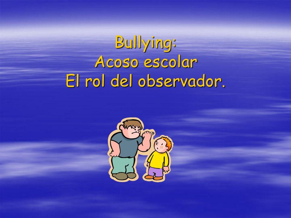 ¿Qué es bullying?