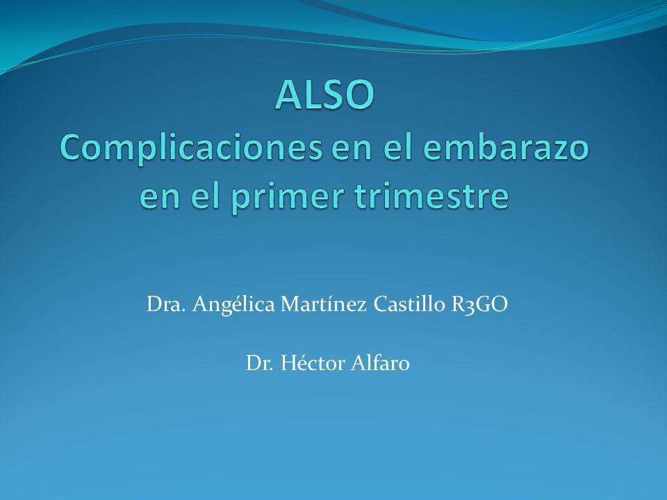 Dra. Angélica Martínez Castillo R3GO Dr. Héctor Alfaro