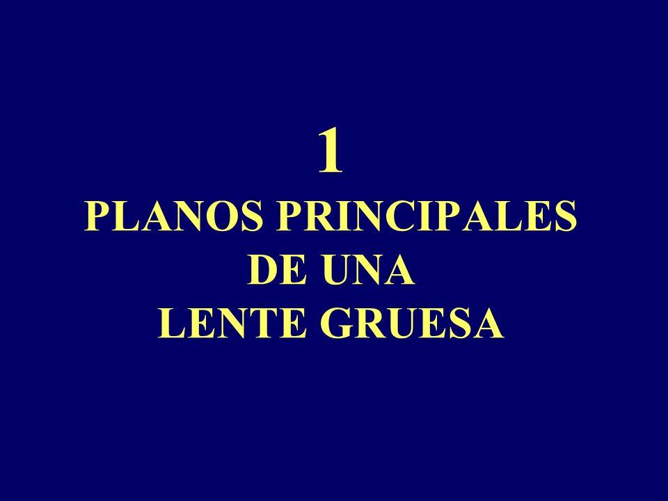 1 PLANOS PRINCIPALES DE UNA LENTE GRUESA