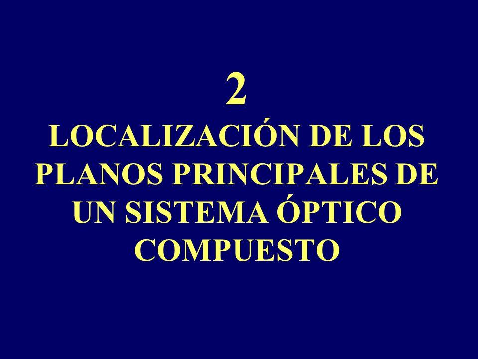 2 LOCALIZACIÓN DE LOS PLANOS PRINCIPALES DE UN SISTEMA ÓPTICO COMPUESTO