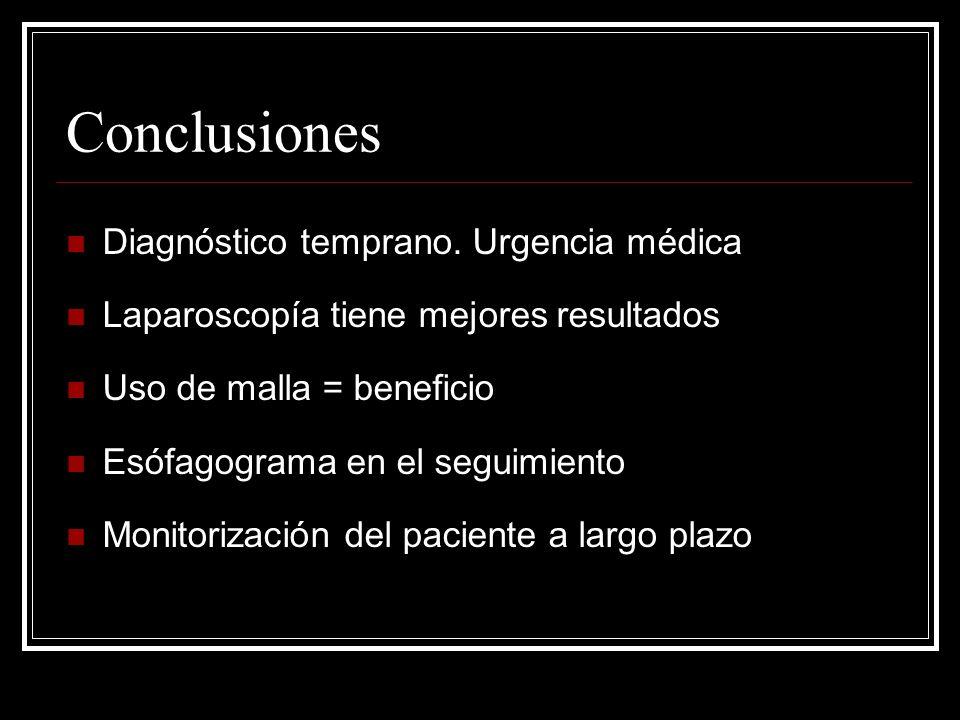 Conclusiones Diagnóstico temprano.