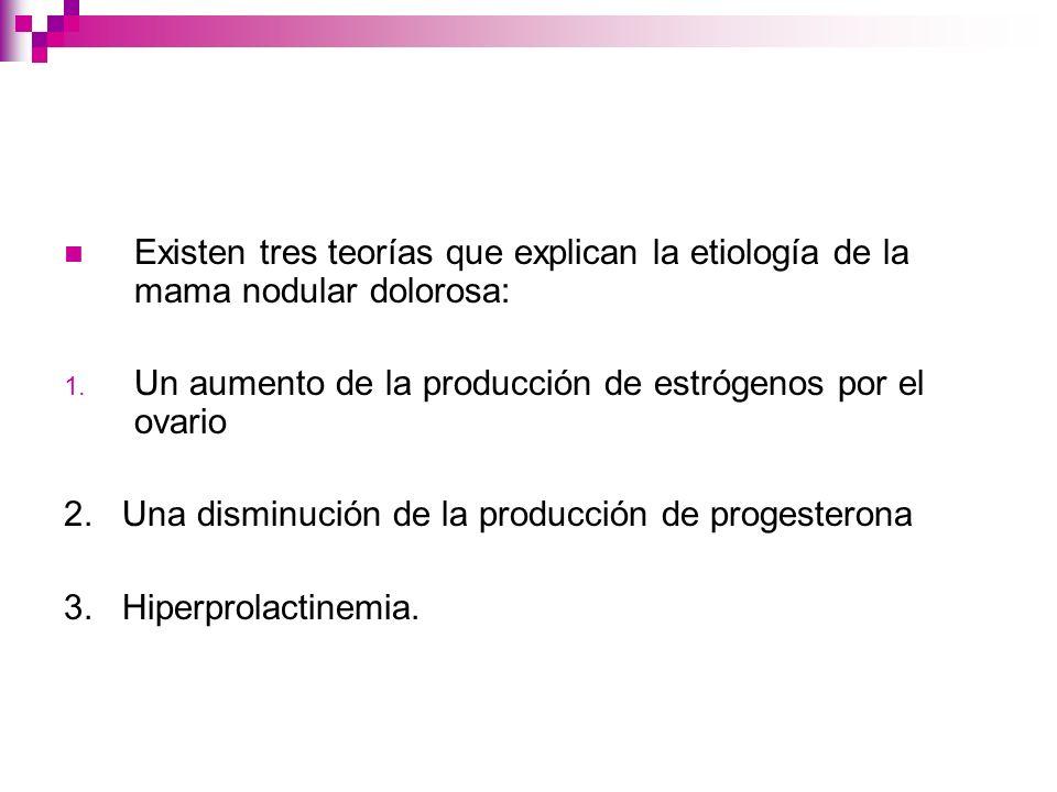 Tratamiento en general Progesterona: Mejoría importante en el dolor y la nodularidad mamarios.
