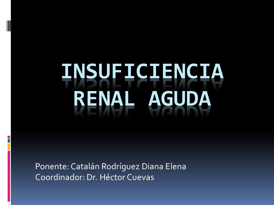 Ponente: Catalán Rodríguez Diana Elena Coordinador: Dr. Héctor Cuevas