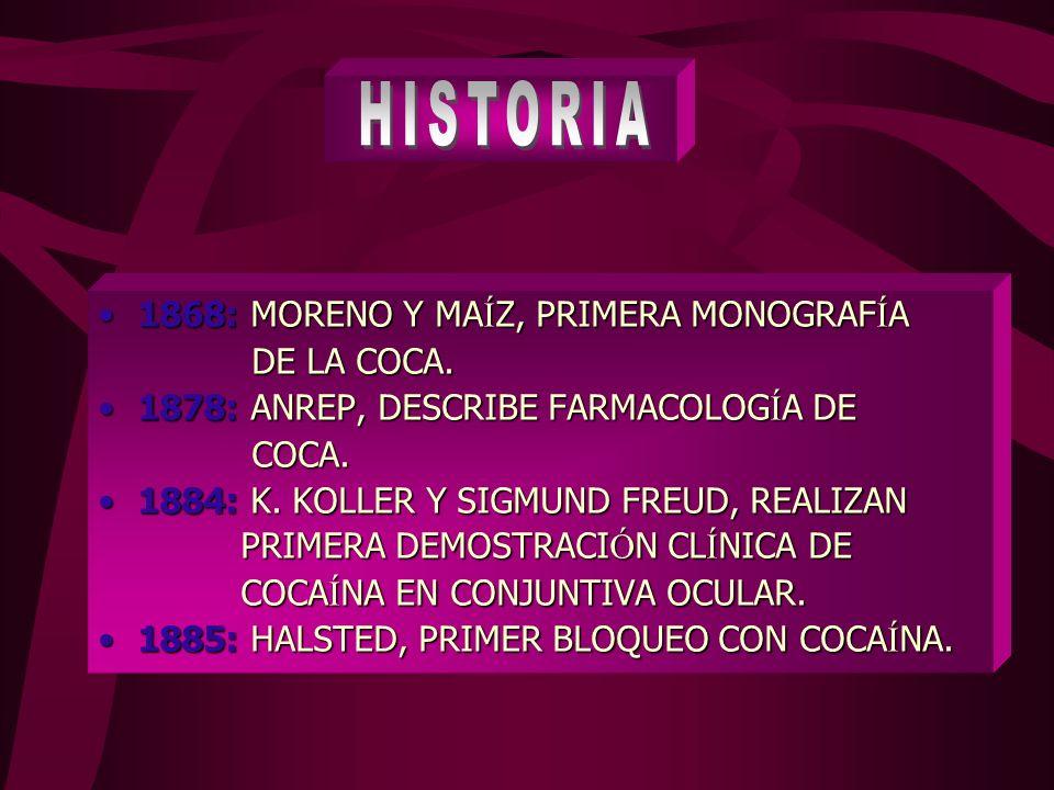 1868: MORENO Y MA Í Z, PRIMERA MONOGRAF Í A1868: MORENO Y MA Í Z, PRIMERA MONOGRAF Í A DE LA COCA.