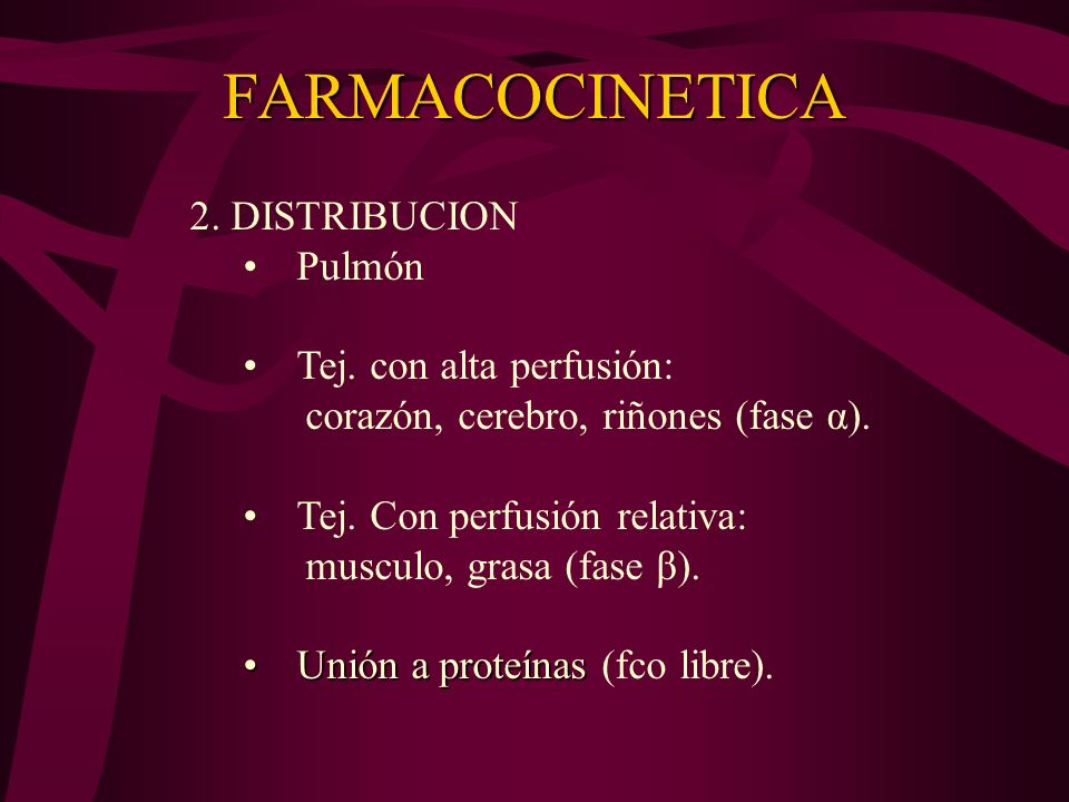 FARMACOCINETICA 1.ABSORCION -Sitio de la inyección -Dosis -Adición de Vasoconstrictor -Perfil farmacológico de la sustancia Los sitios de inyección qu