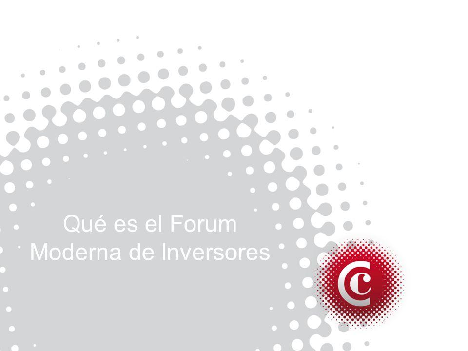 Qué es el Forum Moderna de Inversores
