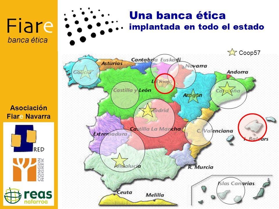 Asociación Fiare Navarra banca ética Una banca ética implantada en todo el estado Coop57